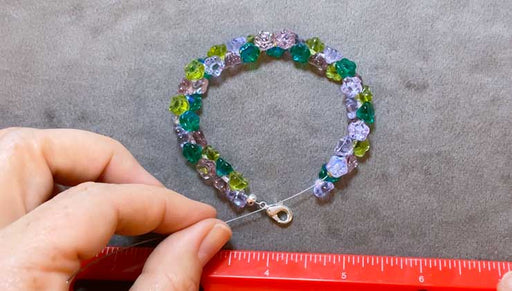 How to Make a Strung Bracelet with Czech Glass Flower Beads