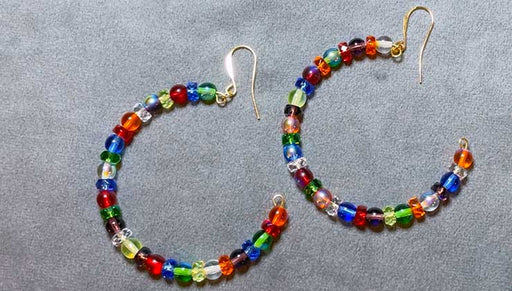 How to Make the Rainbow Party Hoop Earrings