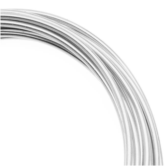 Artistic Wire, Silver Plated Craft Wire 16 Gauge Thick, 10 Foot Coil, Tarnish Resistant Silver