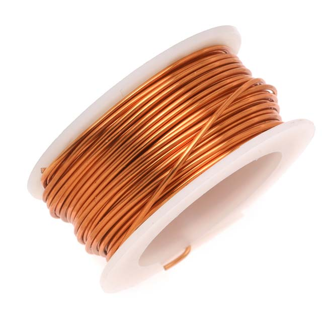 Artistic Wire, Copper Craft Wire 18 Gauge Thick, 4 Yard Spool, Tarnish Resistant Natural Copper