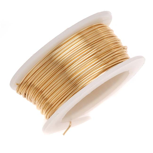 Artistic Wire, Copper Craft Wire 22 Gauge Thick, 8 Yard Spool, Tarnish Resistant Brass
