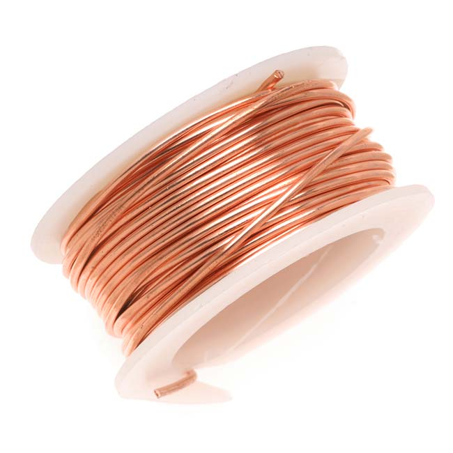 Artistic Wire, Copper Craft Wire 24 Gauge Thick, 10 Yard Spool, Bare Copper