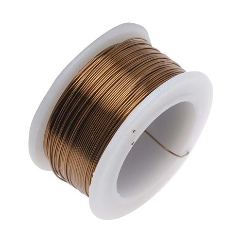 BeadSmith Non-Tarnish Antique Brass Color Copper Craft Wire 26 Gauge - 30 Yards