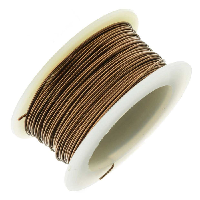 Artistic Wire, Copper Craft Wire 20 Gauge Thick, 6 Yard Spool, Antiqued Brass