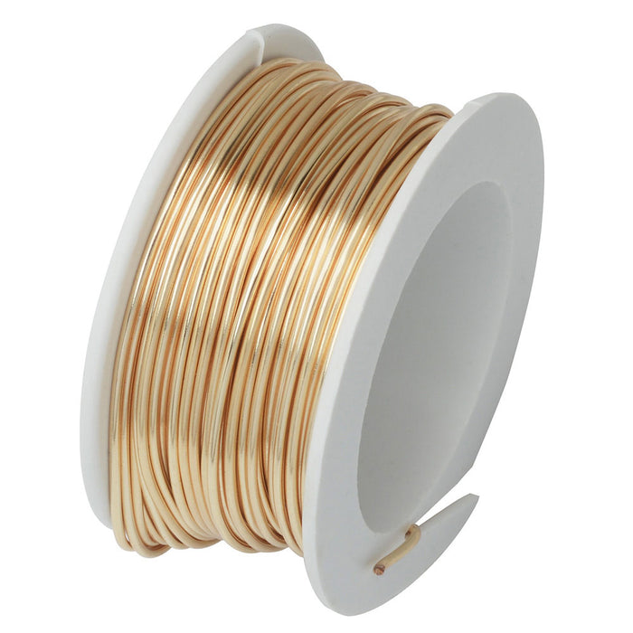 Artistic Wire, Silver Plated Craft Wire 18 Gauge Thick, 4 Yard Spool, Gold Color
