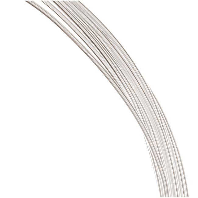1 Oz. (12 Ft.) Sterling Silver Wire 18 Gauge - Round-Half Hard