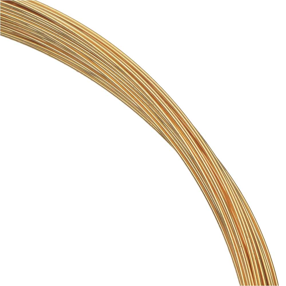 1 Oz (83 Ft) Gold Filled Wire 26 Gauge -Round-Half Hard