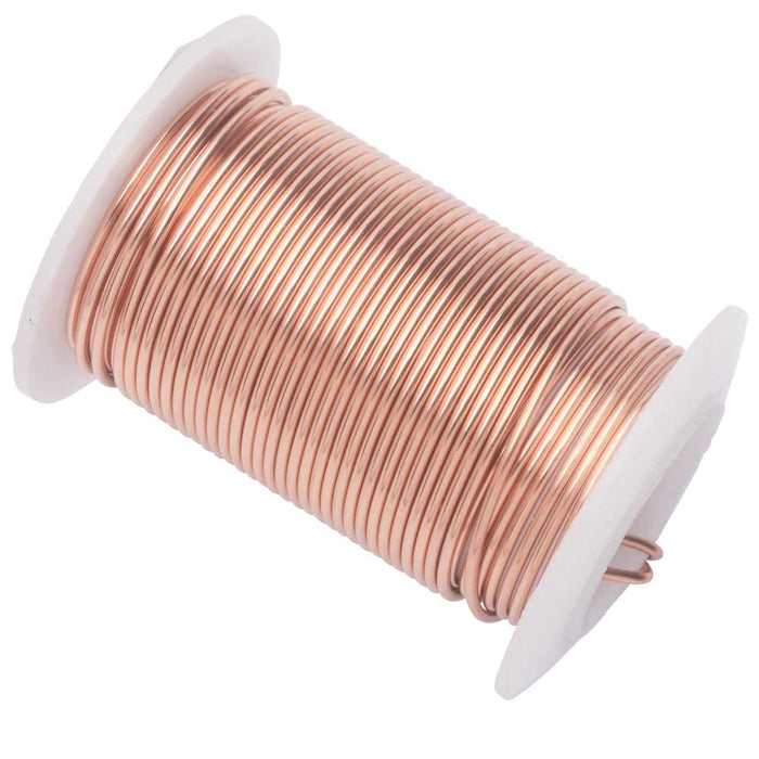 Wire Elements, Tarnish Resistant Rose Gold Wire, 16 Gauge 8 Yards (7.3 Meters)