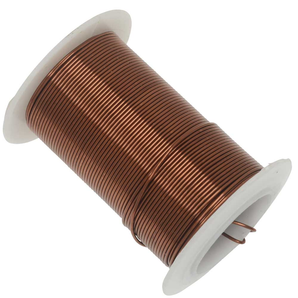 Wire Elements, Tarnish Resistant Antique Copper Wire, 20 Gauge 15 Yards (13.5 Meters)