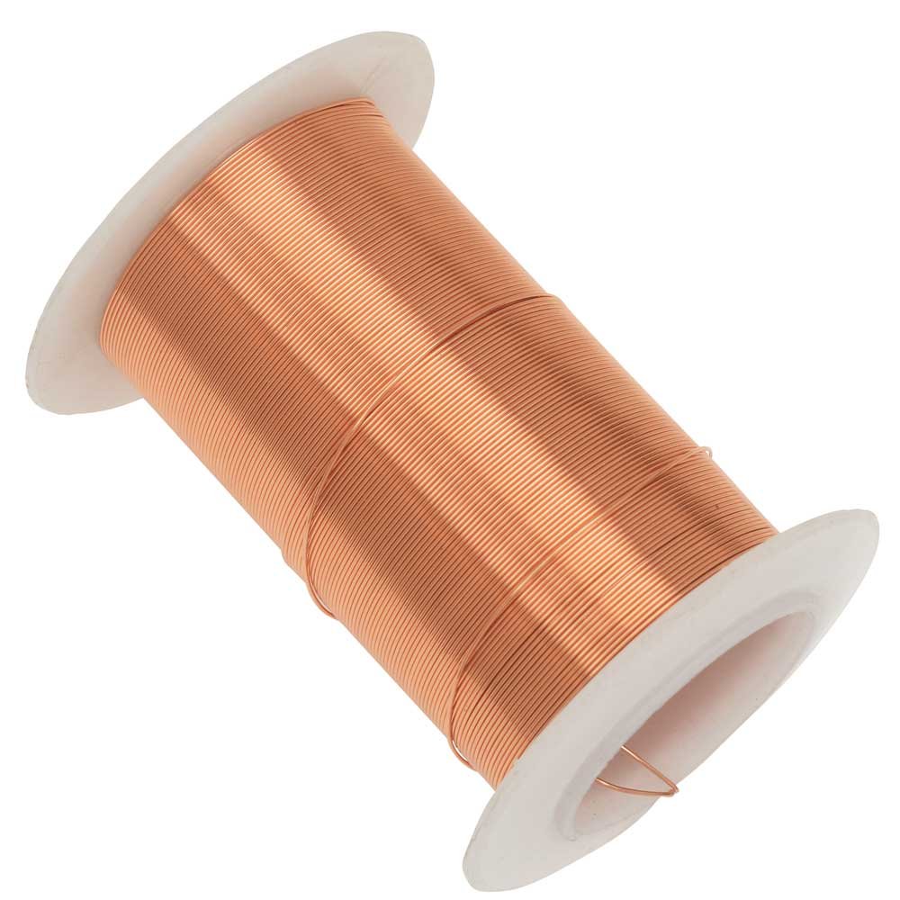 Wire Elements, Tarnish Resistant Bright Copper Wire, 26 Gauge 34 Yards (31 Meters)