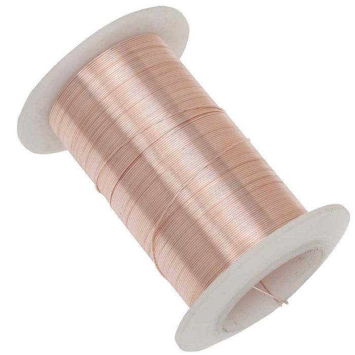 Wire Elements, Tarnish Resistant Rose Gold Wire, 26 Gauge 34 Yards (31 Meters)