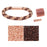 Refill - Splendid Spiral Kumihimo Bracelet in Pink and Bronze - Exclusive Beadaholique Jewelry Kit