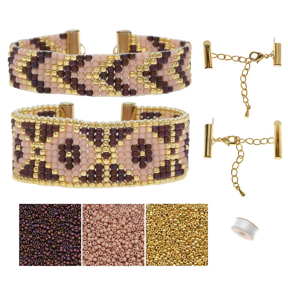 Refill - Loom Bracelet Duo - Bronte Rose - Exclusive Beadaholique Jewelry Kit