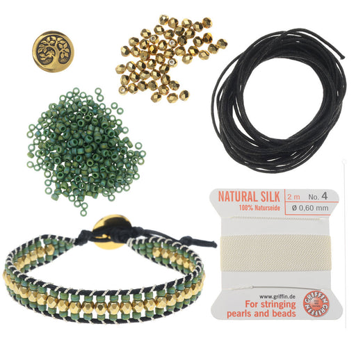 Refill - Cotton Wrapped Loom Bracelet - Green Tree of Life - Exclusive Beadaholique Jewelry Kit