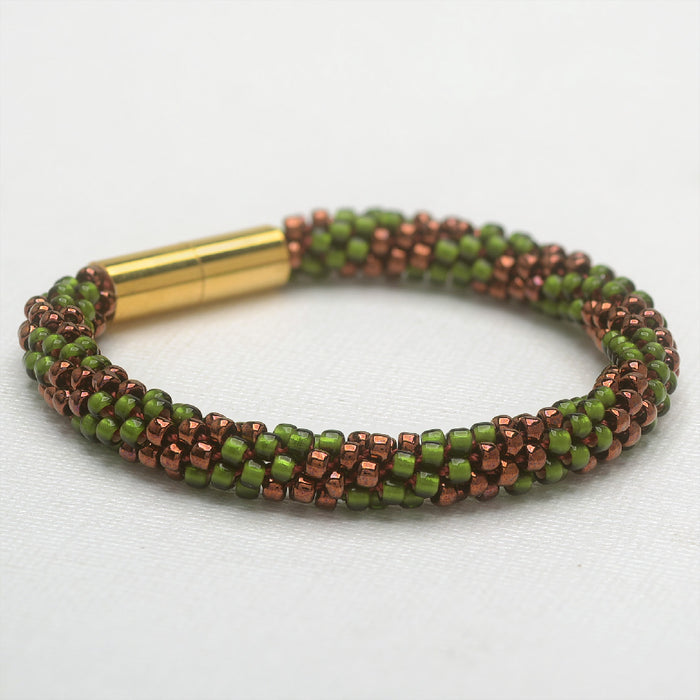 Refill - Splendid Spiral Kumihimo Bracelet in Red and Green - Exclusive Beadaholique Jewelry Kit