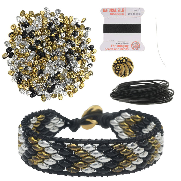 Refill - SuperDuo Wrapit Loom Bracelet in Celebration - Exclusive Beadaholique Jewelry Kit