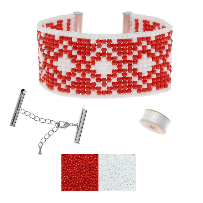Refill - Holiday Ski Lodge Loom Bracelet - Exclusive Beadaholique Jewelry Kit