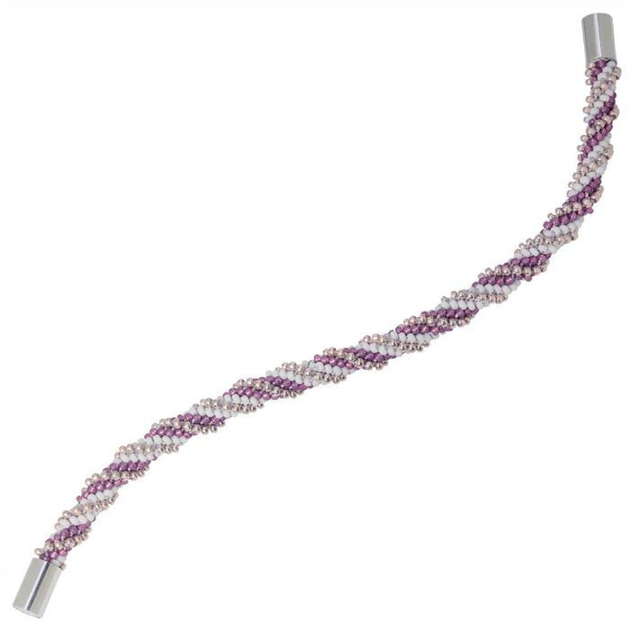 Refill - Spiral 12 Warp Beaded Kumihimo Bracelet - Sweet Orchid - Exclusive Beadaholique Jewelry Kit
