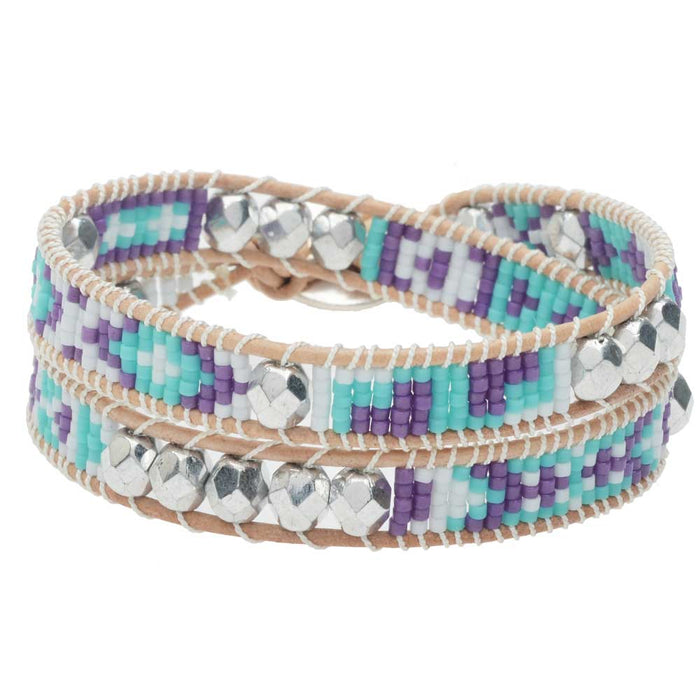 Refill - Mosaic Double Wrapped Loom Bracelet - Riviera - Exclusive Beadaholique Jewelry Kit