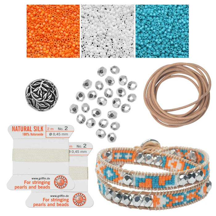 Refill - Mosaic Double Wrapped Loom Bracelet - Cancun - Exclusive Beadaholique Jewelry Kit