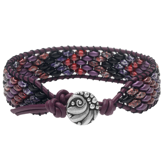Refill - SuperDuo Wrapit Loom Bracelet in Pinot Noir - Exclusive Beadaholique Jewelry Kit