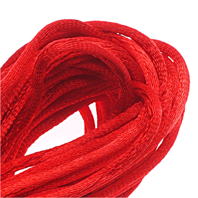 Rayon Satin Rattail 1mm Cord - Knot & Braid - Red (6 Yards)