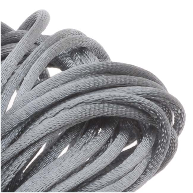 Rayon Satin Rattail 1mm Cord - Knot & Braid - Silver Gray (6 Yards)