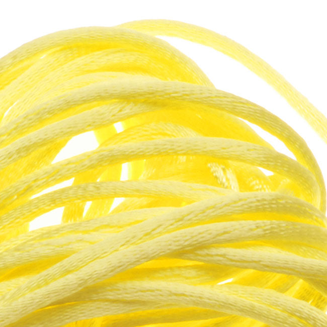 Rayon Satin Rattail 1mm Cord - Knot & Braid - Pastel Yellow (6 Yards)