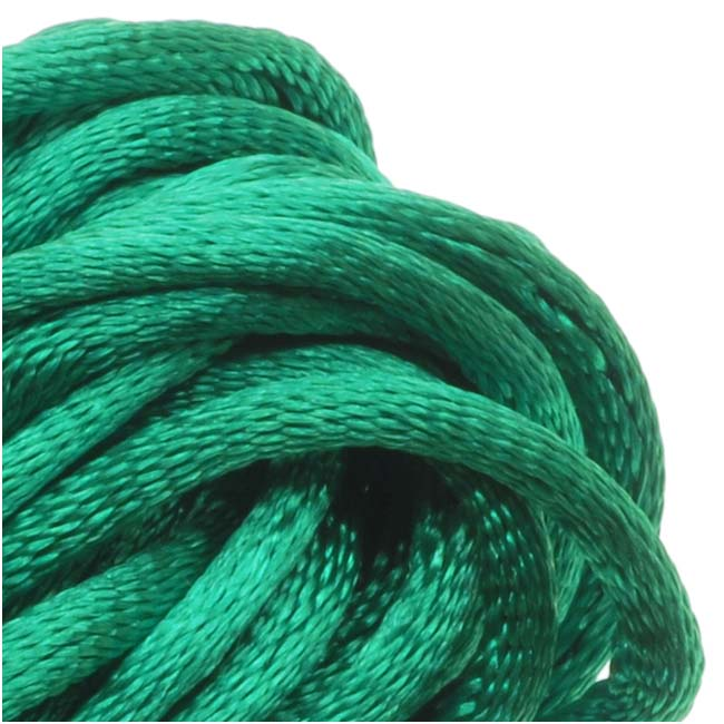 Final Sale - Rayon Satin Rattail 2mm Cord - Knot & Braid - Teal Green (6 Yards)