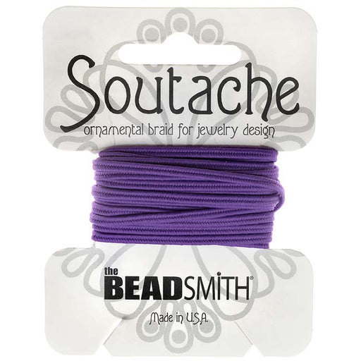 The Beadsmith Soutache Braided Cord 3mm Wide - Dark Lilac Purple (3 Yds)