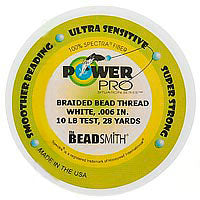 Power Pro Braided Beading Thread .006 Inch White - 28 Yds