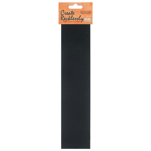 Create Recklessly, Symphony Faux Leather 10 x 2 Inch Strip, 1 Piece, Black