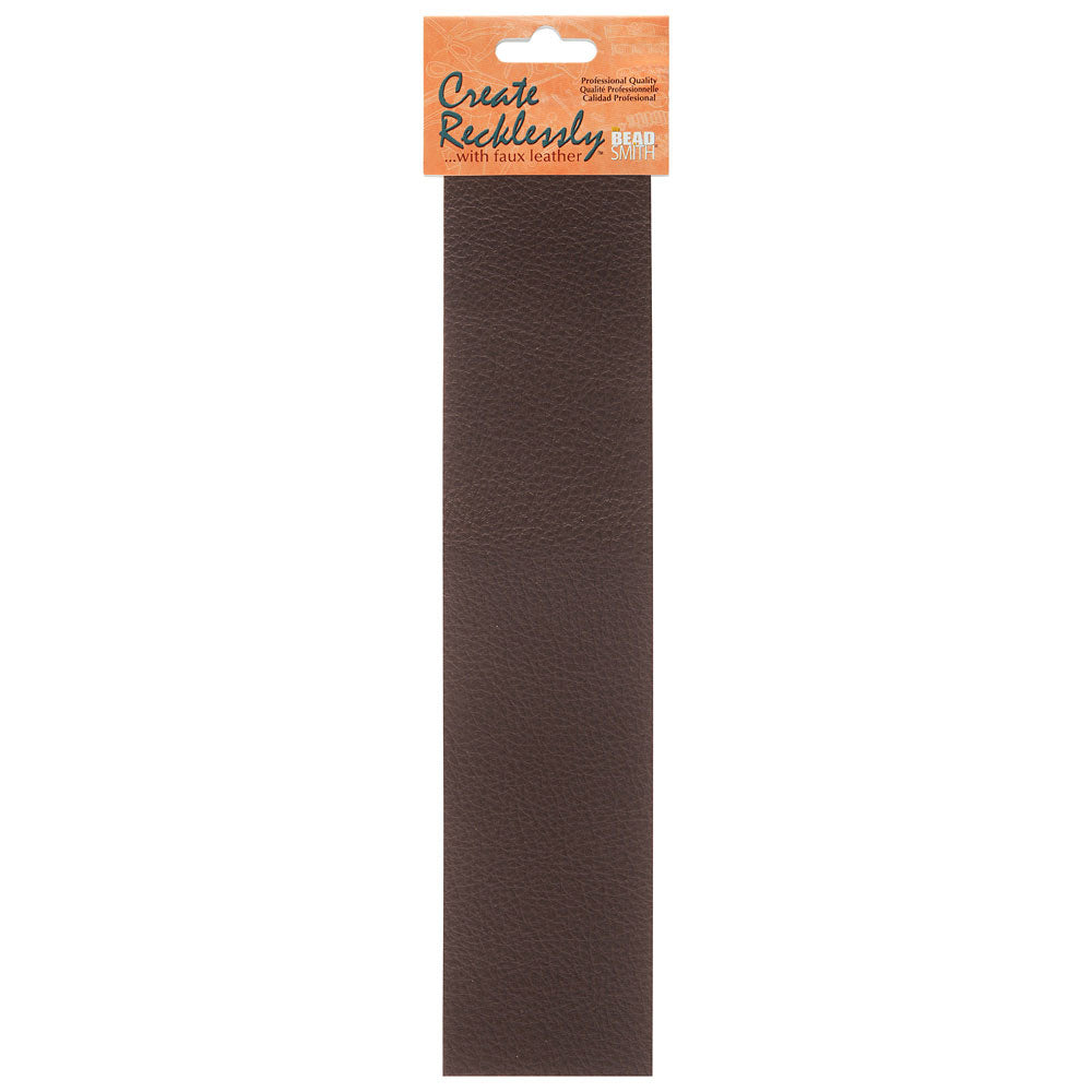Create Recklessly, Symphony Faux Leather 10 x 2 Inch Strip, 1 Piece, Fudge Brown