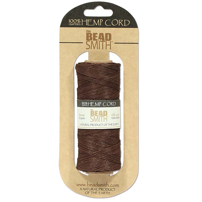 The Beadsmith Natural Hemp Twine Bead Cord Brown Color 0.55mm / 394 Feet (120 Meters)