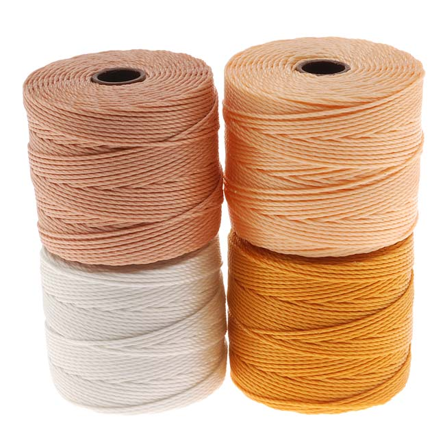Super-Lon (S-Lon) Cord - Honey Butter Mix - Four 77 Yard Spools / Size 18 Cord