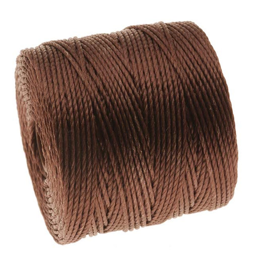 Super-Lon (S-Lon) Cord - Size 18 Twisted Nylon - Brown / 77 Yard Spool