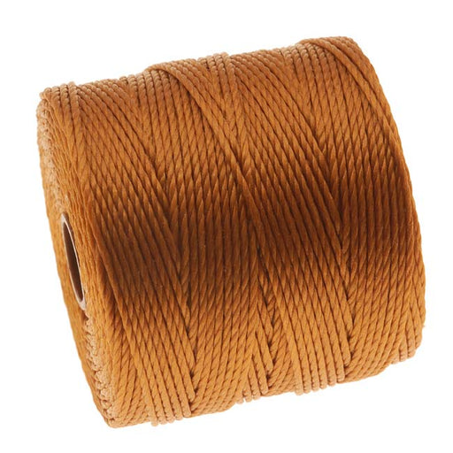 Super-Lon (S-Lon) Cord - Size 18 Twisted Nylon - Gold / 77 Yard Spool