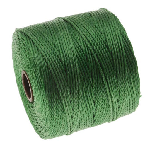 Super-Lon (S-Lon) Cord - Size 18 Twisted Nylon - Green / 77 Yard Spool