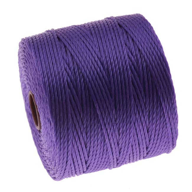 Super-Lon (S-Lon) Cord - Size 18 Twisted Nylon - Violet / 77 Yard Spool