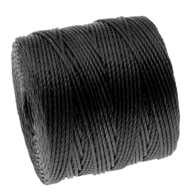 Heavy Super-Lon (S-Lon) Cord - Twisted Nylon - 0.9mm 'Black' (35 Yard Spool)