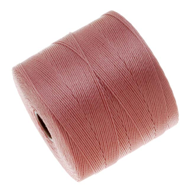The Beadsmith Super-Lon (S-Lon) Micro Macrame Twisted Nylon Cord - Rose Pink / 287 Yard Spool