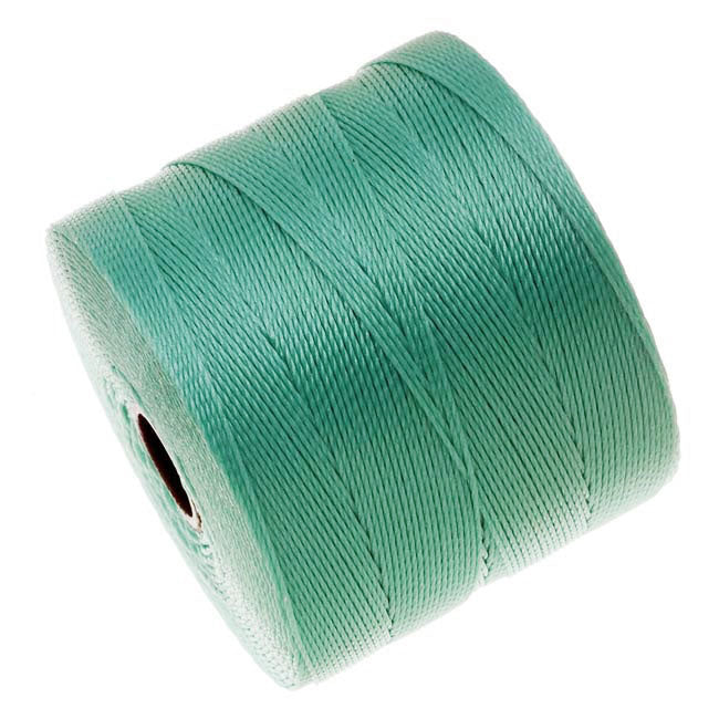 The Beadsmith Super-Lon (S-Lon) Micro Macrame Twisted Nylon Cord - Turquoise / 287 Yard Spool