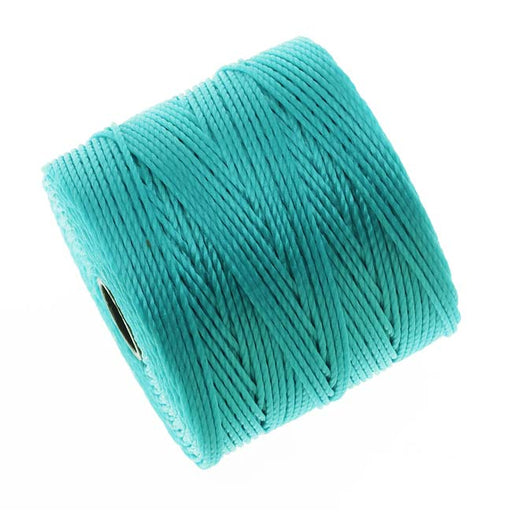 Super-Lon (S-Lon) Cord - Size #18 Twisted Nylon - Aqua / 77 Yard Spool