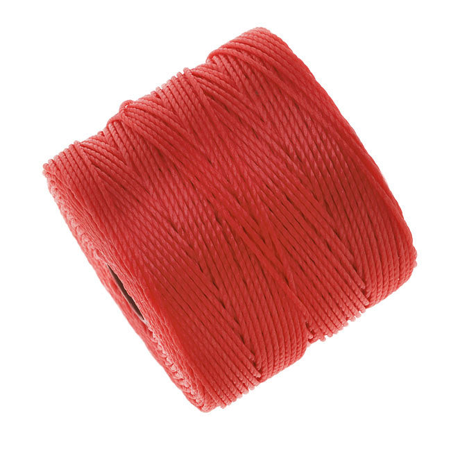 Super-Lon (S-Lon) Cord - Size #18 Twisted Nylon - Bright Coral (77 Yard Spool)