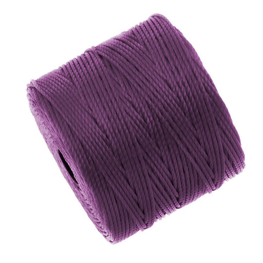 Super-Lon (S-Lon) Cord - Size #18 Twisted Nylon - Plum (77 Yard Spool)