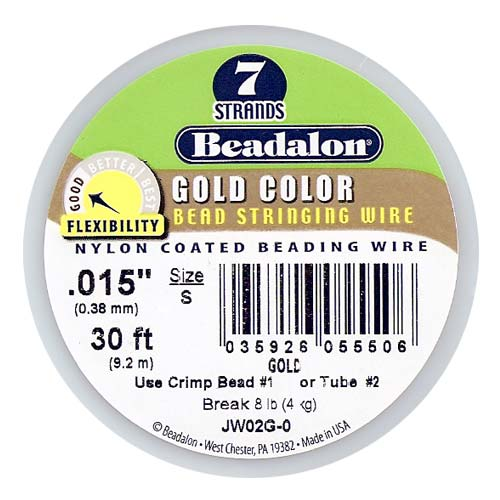 Beadalon Wire Gold Color 7 Strand .015 Inch / 30Ft