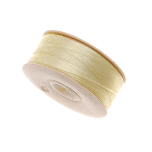 "NYMO Nylon Beading Thread Size D for Delica Beads ""Ivory"" 64YD (58 Meters)"