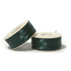 NYMO Nylon Beading Thread Size D for Delica Beads Ever Green 64YD (58 Meters)