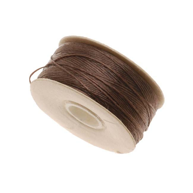 "NYMO Nylon Beading Thread Size D for Delica Beads ""Brown"" 64YD (58 Meters)"
