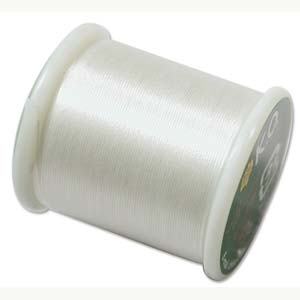 Japanese Nylon Beading K.O. Thread for Delica Beads - Ivory 50 Meters